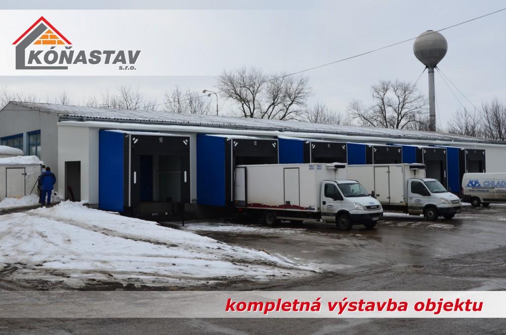 Polyfunkčné stavby a haly Nitra, Nové Zámky, Šurany, Komárno